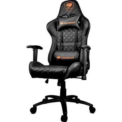 Cougar Armor One Black Gaming Chair (180º Reclining and Height Adjustment) – Black